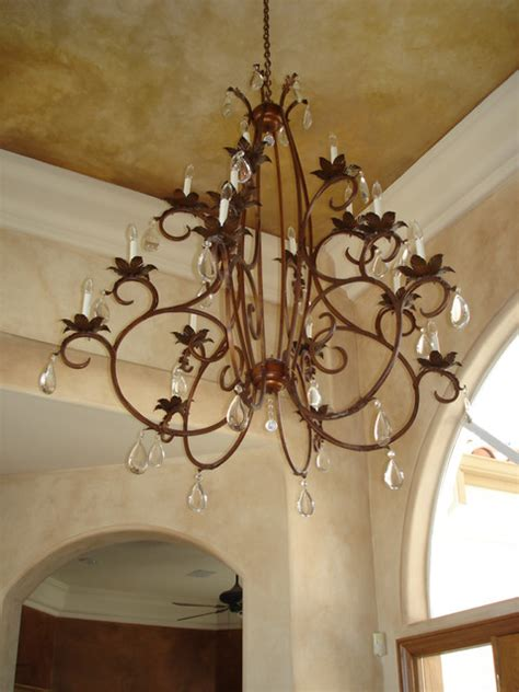 kitchen lighting houzz schonbek 5771 76 heritage cut iron chandelier with crystals traditional entry