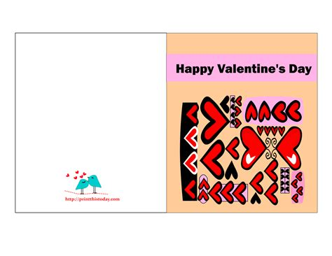valentines card free printable s cards