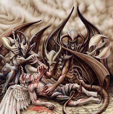 tattoo angel killing demon between two worlds angels and devils bestquest