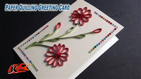How To Make A Greeting Card By Paper Quilling - diy easy paper quilling greeting card without tool how