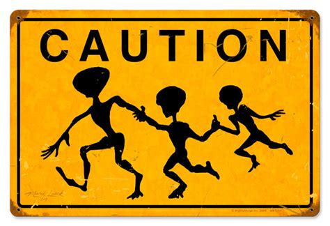 caution crossing vintage metal sign
