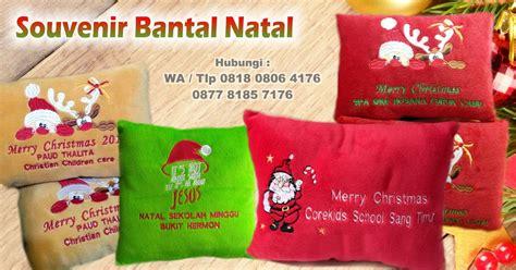 Boneka Tema Natal Santa Claus jual souvenir bantal natal bisa bordir logo anda bantal
