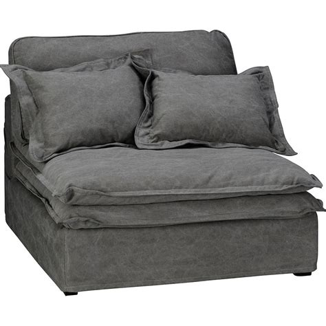 slouch sofa slouch sofa centre seat vintage grey cotton