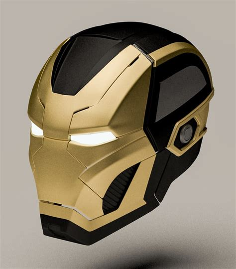 iron man helmet design 3d iron man mark 41 model