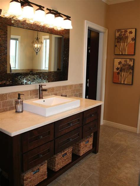 Bathroom Vanity Tile Ideas Mosaic Tile Backsplash Bathroom Home Decor And Interior Design