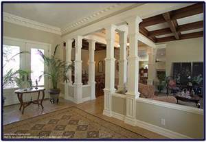 interior columns for homes wood pillars enhancing the interior of your home pictures