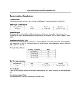 Commission Payout Template by Sle Commission Plan Template 8 Free Documents In Pdf