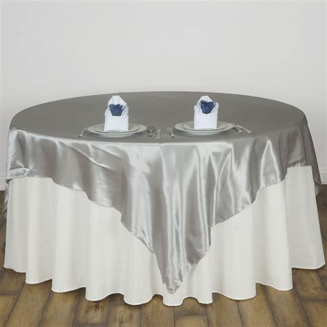 30 pack 72x72 quot square satin table overlays wedding