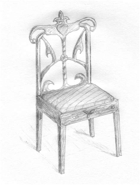 stuhl zeichnung chair pencil drawing by nelutuinfo on deviantart