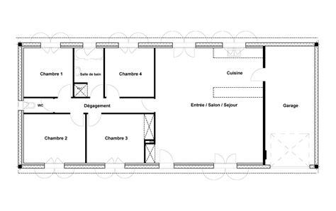 plan de maison 100m2 3 chambres plan maison 100m2 3 chambres plan maison rectangle