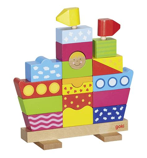 wooden toy boat uk stacking boat wooden toy