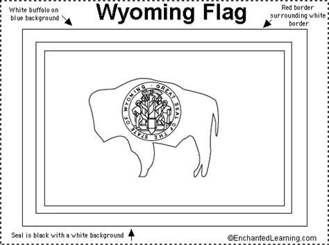 wyoming flag printout enchantedlearning com