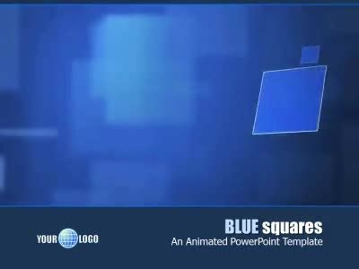 Blue Squares A Powerpoint Template From Presentermedia Com Squares Powerpoint Template