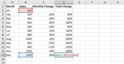 excel tutorial how to calculate percentages percent change formula in excel easy excel tutorial