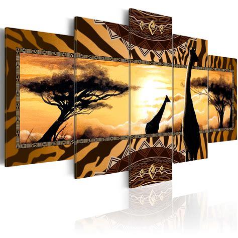 ethno m bel leinwand bilder kunstdruck wandbild afrika savanne