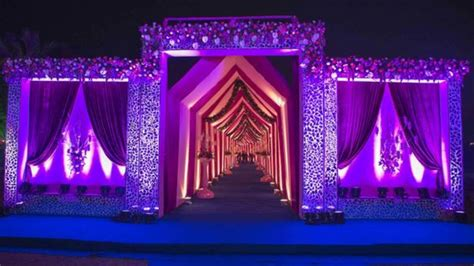wedding decoration reception wedding gate decoration