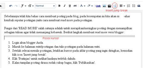 blogger id cara membuat read more versi blogger id pemula blogspot