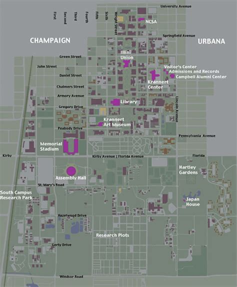 uiuc map illinois map uiuc