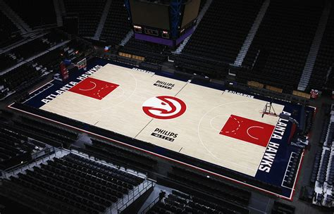 philips arena floor hawks to debut new uniforms and unveil new court tonight