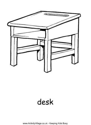 school chair coloring page school colouring pages