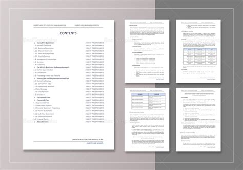 car wash business plan template car wash business plan template in word docs