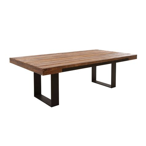 Wood And Metal Dining Tables Reclaimed Wood And Metal Dining Table Delmaegypt