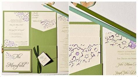 purple and green wedding invitations wedding save the