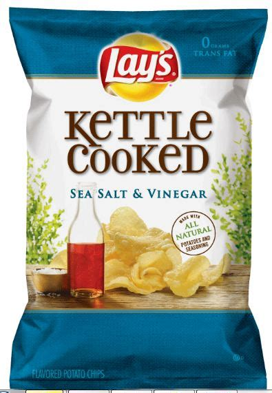 Kitchen Kettle Chips Lays Kettle Cooked Sea Salt Vinegar Potato Chips This
