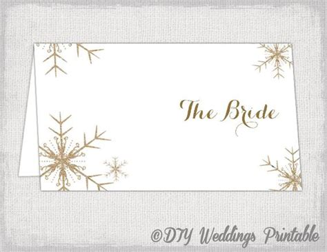 snowflake place card template snowflake place card template diy winter wedding printable
