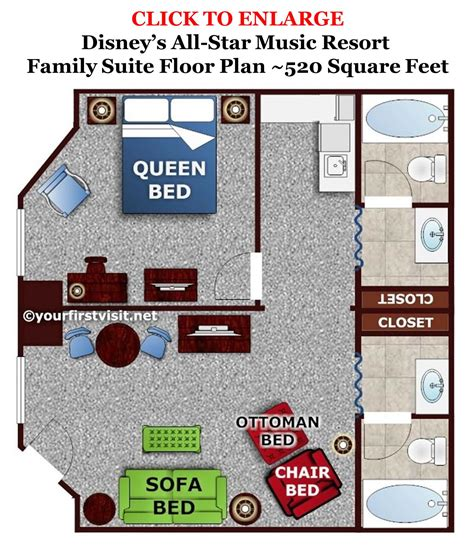 Floor Plans With Two Master Suites by Review The Family Suites At Disney S All Star Music Resort