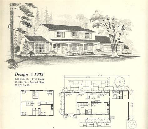 Classic House Plans by Vintage House Plans 1970s Style Tudor Homes