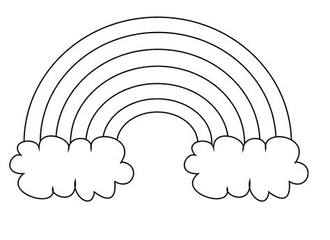 rainbow coloring page kindergarten rainbow coloring pages only coloring pages