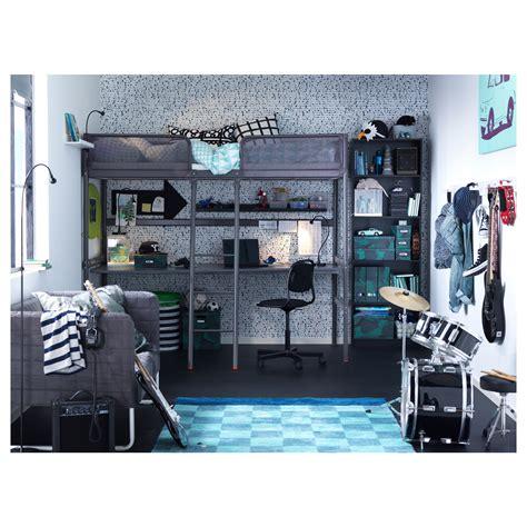 Ikea Black Bunk Bed Tuffing Loft Bed Frame Grey 90x200 Cm Ikea