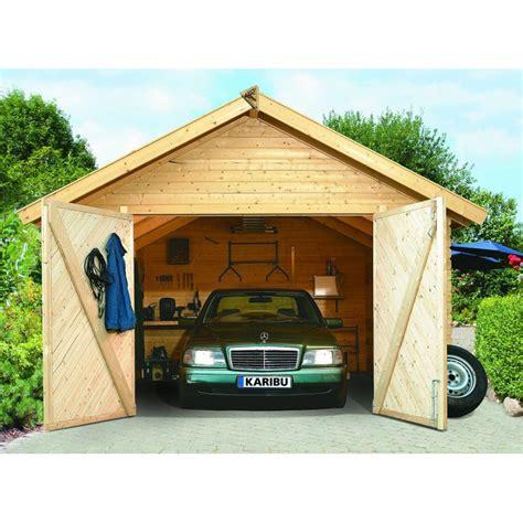 porte garage 522 garage bois karibu portes battantes 40 mm 19 3 m 178 372x522 cm