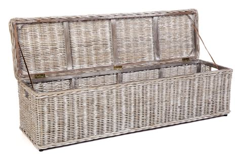 wicker shoe storage 160cm whitewash rattan trunk hton s coastal shoe