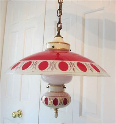 vintage kitchen lighting a 1940 s retro theme for your rare vintage 1940 s red porcelier ceiling light fixture