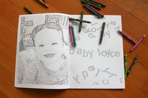 make coloring book pages in photoshop personalized coloring book coloring pictures diy