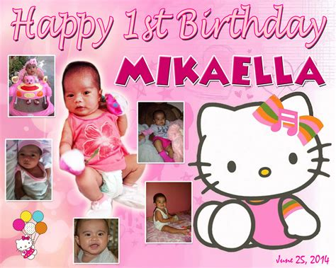 hello kitty themes for tarpaulin mikaella s 1st birthday hello kitty cebu balloons and