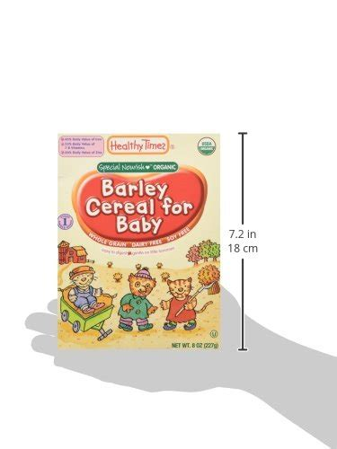 whole grains for baby healthy times whole grain baby cereal barley 8 oz food