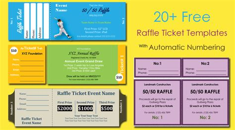 28 numbered raffle tickets template numbered raffle