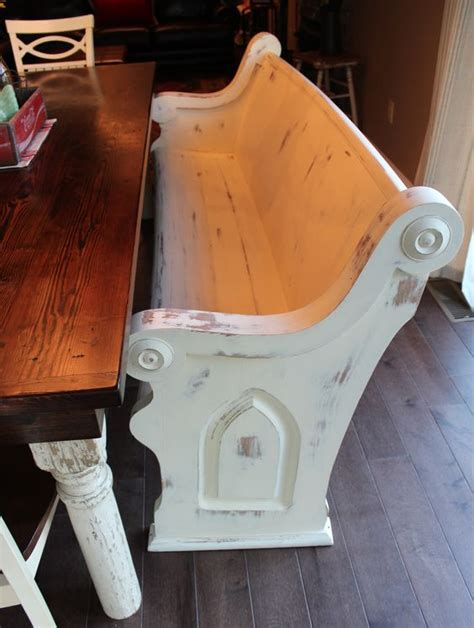 pew bench refinished church pew used as a bench antique church pews pinterest church love