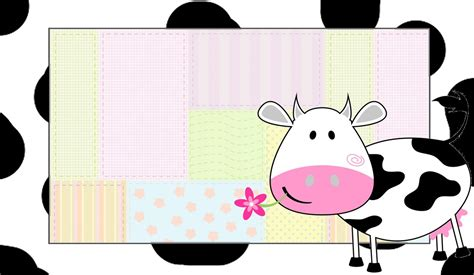 Patchwork Cow - cow and patchwork free printable invitations is it for