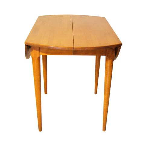 leaf dining table vintage russel wright conant birch drop leaf dining