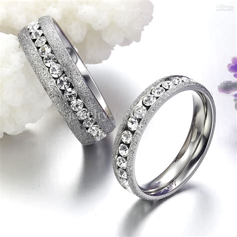 dull diamon rings wedding jewellery stainess