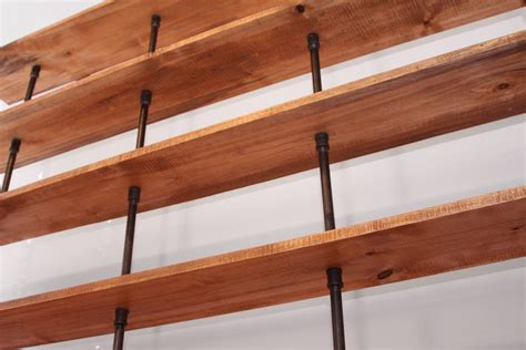 the hemingway wall mount bookcase reclaimed wood bookshelf