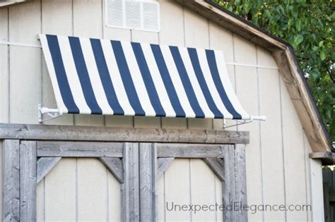 Diy Outdoor Awning by Diy Shed Awning And Easy Elegance