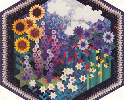 Grandmother S Garden Quilt Pattern 171 Design Patterns Grandmothers Flower Garden Quilt Pattern