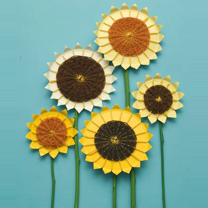 Paper Plate Sunflower Craft - 11 sunflower craft ideas