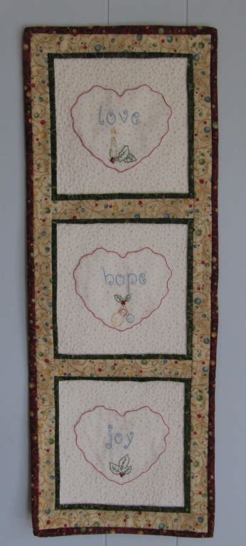 Giveaways Joy - round robin row quilt row 4 with joy