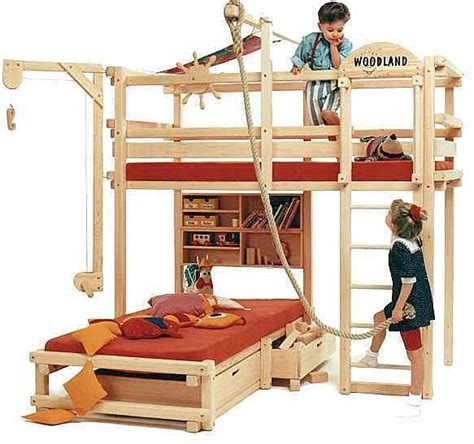 fun bunk beds bunk bed meets backyard play structure bunk bed study